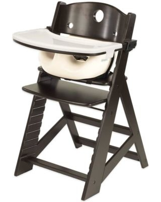 Keekaroo® Height Right High Chair Espresso with Vanilla Infant Insert and Tray