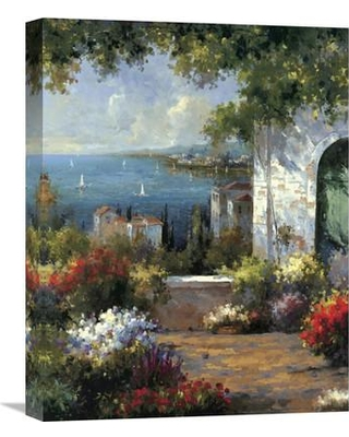 """Global Gallery 'View Through The Arch' by Harvey Painting Print on Wrapped Canvas GCS-125724 Size: 20"""" H x 16"""" W x 1.5"""" D"""