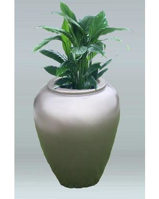 Allied Molded Products Thai Jar Plastic Pot Planter 1THA2437 Color: Navy Blue