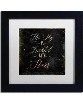 "Trademark Art 'Moon and Back III' by Color Bakery Framed Textual Art ALI5005-B1 Matte Color: White Size: 11"" H x 11"" W x 0.5"" D"