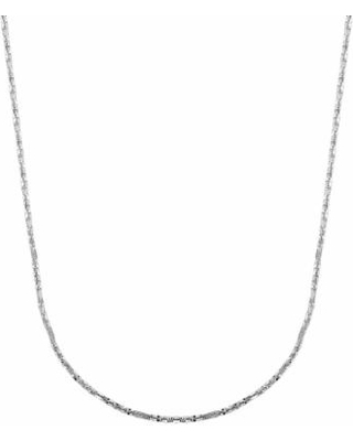 """""""Everlasting Gold 14k White Gold Crisscross Chain Necklace - 18 in., Women's, Size: 18"""", Silver"""""""