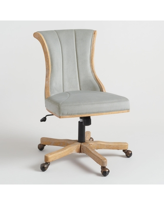 Channel Back Upholstered Home Office Chair: Natural by World Market
