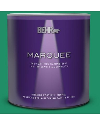 BEHR MARQUEE 1 qt. #MQ4-15 Balsam One-Coat Hide Eggshell Enamel Interior Paint and Primer in One