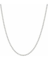 """Sterling Silver Textured Ball Chain Necklace, Women's, Size: 24"", Grey"""
