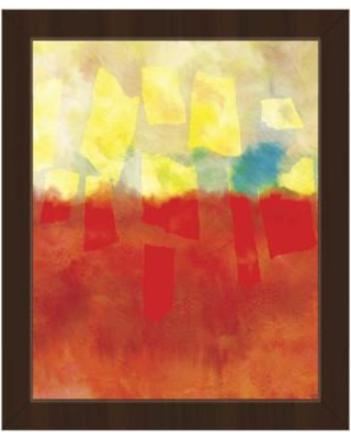 "Click Wall Art 'Akai Ame' Framed Painting Print ABS0012075FRA Size: 10.5"" H x 12.5"" W Format: Espresso Framed"