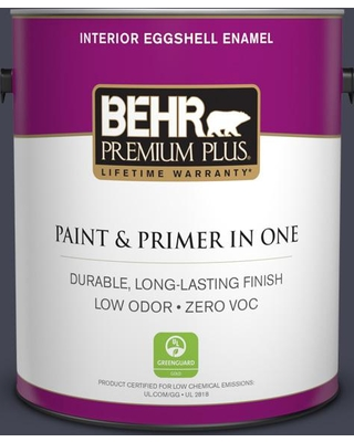 BEHR PREMIUM PLUS 1 gal. #T11-2 Stiletto Eggshell Enamel Low Odor Interior Paint and Primer in One