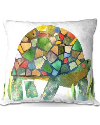 "Ebern Designs Dominika Couch Turtle Throw Pillow W000755263 Size: 20"" x 20"""