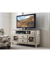 """Ophelia & Co. Ismael TV Stand for TVs up to 70"""", Wood in Beige/Gray, Size 31""""H X 63""""W X 23""""D 