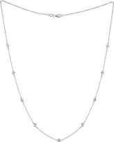 Diamond and 14K White Gold Station Necklace, 1 TCW