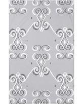 """e by design On the Line Polyester Fleece Throw Blanket HGN246 Size: 60"""" L x 50"""" W x 0.5"""" D, Color: Rain Cloud"""