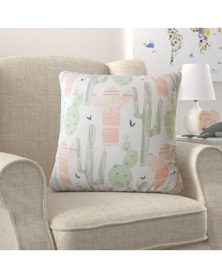 """Mack & Milo Woolford Graphic Down Filled Cotton Throw Pillow W000159381 Color: Sundown Size: 12 x 18"""""""