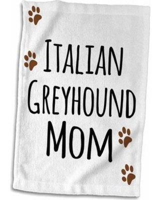 New Deal For Symple Stuff Hedin Italian Hound Dog Mom Doggie By Breed Hand Towel Terry In Brown Black Size 22 W X 15 D Wayfair