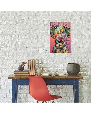 """East Urban Home Dean Russo 'Dalmatian Love' Graphic Art Print on Wrapped Canvas EBIC3616 Size: 60"""" H x 40"""" W x 1.5"""" D"""