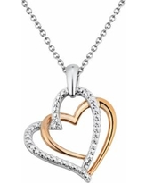 8873c8ebb1512 Don't Miss This Deal: Two Hearts Forever One Diamond Accent 10k Rose ...
