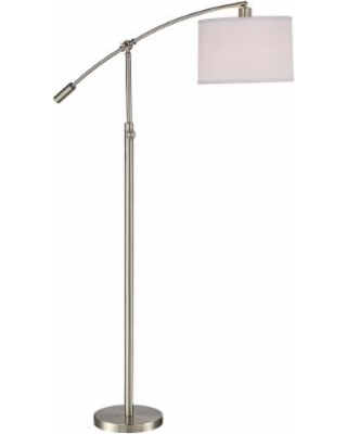 Quoizel Quoizel Clift Brushed Nickel Adjustable Arc Floor Lamp From Lamps Plus Martha Stewart