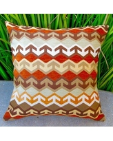 Artisan Pillows Geometric Arrow in Southwestern Country Cabin Indoor Cotton Throw Pillow CF-002-01 / CF-005-01 Color: Brown