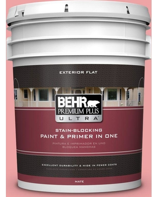 BEHR Premium Plus Ultra 5 gal. #P170-3 Infatuation Flat Exterior Paint and Primer in One