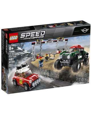 LEGO Speed Champions - 1967 Mini Cooper S Rally and 2018 MINI John Cooper Works Buggy - Building & Construction for Ages 8 to 12 - Fat Brain Toys