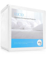 LUCID Bed Bug Proof Mattress Protector & Encasement, One Size , White
