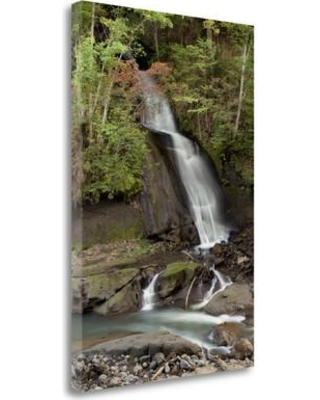 """Tangletown Fine Art 'Hokkaido Waterfall - 6' Photographic Print on Wrapped Canvas ICABJPD0145-1624c Size: 24"""" H x 16"""" W"""