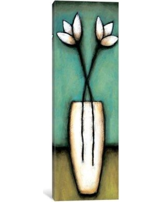 """East Urban Home 'Water Blossoms I' Painting Print on Canvas ESUR5893 Size: 36"""" H x 12"""" W x 1.5"""" D"""