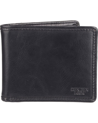 Denizen From Levi's Men's Pieced Edge X-Cap Slimfold Wallet - Black