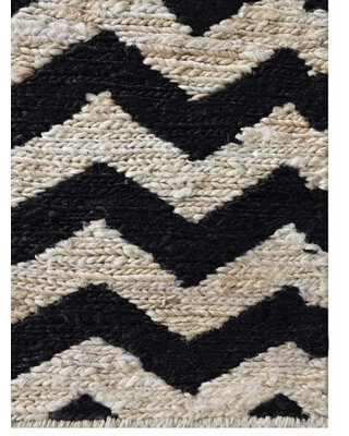 New Deals On Patchway Chevron Hand Knotted Cream Black Area Rug George Oliver Rug Size Rectangle 6 X 9