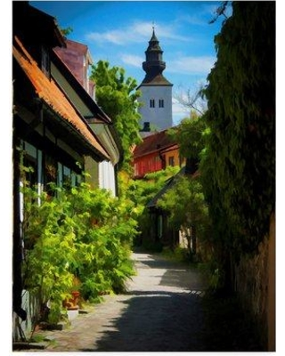 """Trademark Fine Art 'Visby Sweden' Photographic Print on Wrapped Canvas ALI37247-CGG Size: 47"""" H x 35"""" W x 2"""" D"""