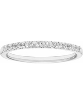 14k White Gold White Sapphire Stackable Ring, Women's, Size: 6.50