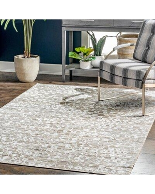Wrought Studio Candace Light Gray Area Rug X111185514 Rug Size: Rectangle 5' x 8'