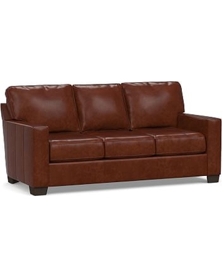 Buchanan Square Arm Leather Sofa 83 5 Polyester Wred Cushions Statesville Moles