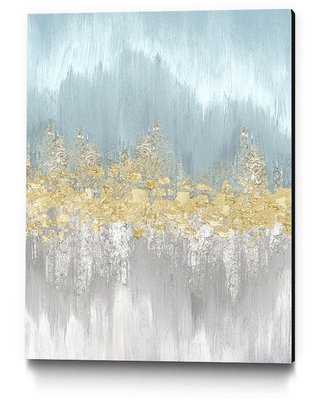 "Clicart 16 in. x 20 in. ""Neutral Wave Lengths I"" by Eva Watts Wall Art, blue/ gold"