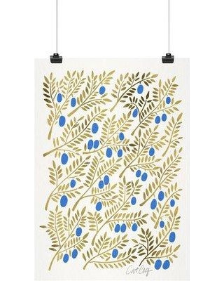"East Urban Home 'Olive Branches' Graphic Art Print ESTN3399 Size: 10"" H x 8"" W x 0.1"" D Format: Paper"