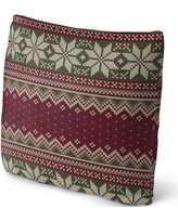 """Darby Home Co Christmas Throw Pillow DABY1824 Size: 16"""" x 16"""""""