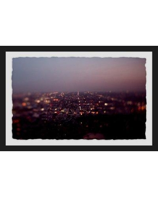 "Ebern Designs 'L.A. Nights' Framed Photographic Print BF080426 Size: 12"" H x 18"" W x 1.5"" D"