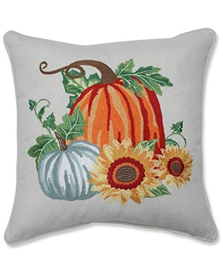 Pillow Perfect Embroidered Decorative ' Multicolored 1 Throw Pillow, 18