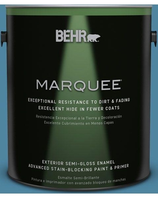 BEHR MARQUEE 1 gal. #S490-5 Jay Bird Semi-Gloss Enamel Exterior Paint and Primer in One