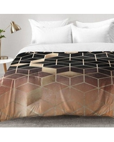 East Urban Home Ombre Cubes Comforter Set EAHU7298 Size: King