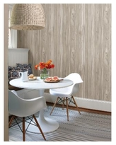 """Brewster Home Fashions Paneling Wide Plank Wallpaper - 396"""" x 20.5"""" x 0.025"""" - Grey"""