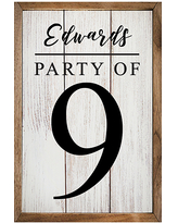 Kendrick Home Decorative Plaques - Whitewash 'Party Of' Personalized Wall Sign