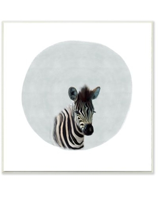 The Kids Room by Stupell Baby Zebra Animal Kids Painting Wall Plaque Art by Leah Straatsma