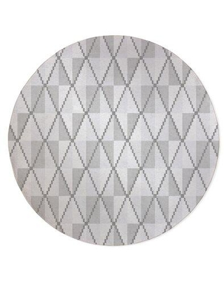 KAVKA DESIGNS Cane Grey-2X3 Cane Black And Whtie Area Rug By Becky Bailey MWRUG-17 Rug Size: Round 5'