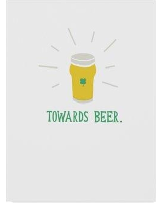 """Wrought Studio 'St Pattys Beer II' Acrylic Painting Print on Wrapped Canvas WRSE1379 Size: 32"""" H x 24"""" W x 2"""" D"""