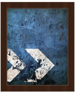 """Click Wall Art Industrial Direction Framed Graphic Art on Canvas IND0000678FR Format: Espresso Framed Size: 22.5"""" H x 18.5"""" W"""