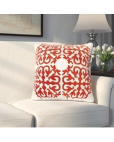 Alcott Hill Abbey Embroidery Eastern Throw Pillow ALTH3555 Color: Red