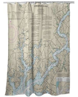 East Urban Home Chester River MD Single Shower Curtain EBHS9096
