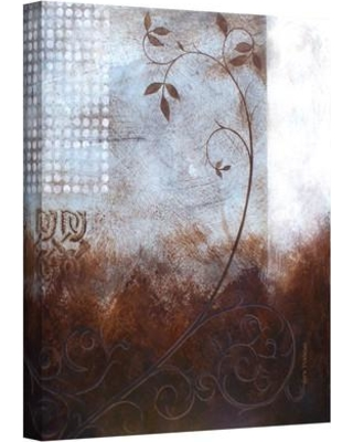 """ArtWall 'Splashy Umber II' by Herb Dickinson Painting Print on Wrapped Canvas Herb-033- Size: 18"""" H x 14"""" W"""