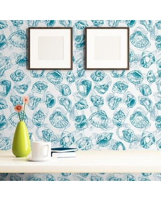 breakwater bay thanos illustration nautical removable peel and stick wallpaper panel w001837030 size 24 w x 48 l