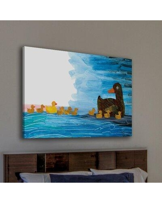 """Marmont Hill '10 Little Rubber Ducks Character Art Duckings 2' by Eric Carle Painting Print on Wrapped Canvas MH-ECARL-44-C Size: 20"""" H x 30"""" W"""
