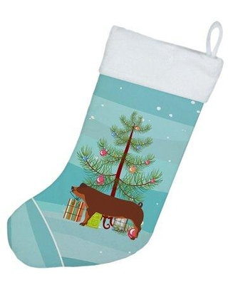 The Holiday Aisle Duroc Pig Christmas Stocking W000037563